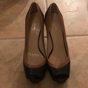Kate Spade peep toe pumps